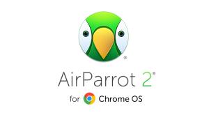 AirParrot 2 for Chrome OS logo - cartoon parrot face