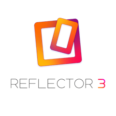 Reflector 3 logo - orange and red squares