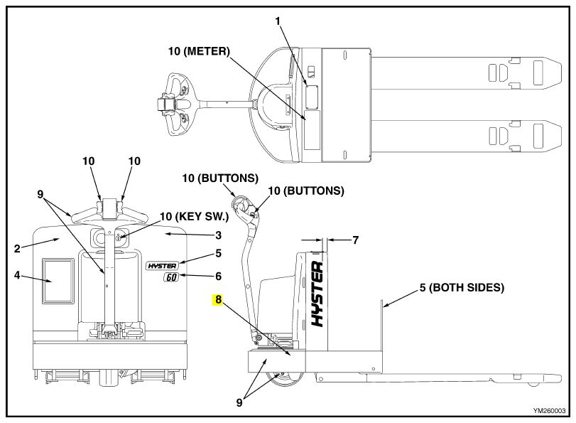 Hyster Forklift Parts Diagram Brake And Com