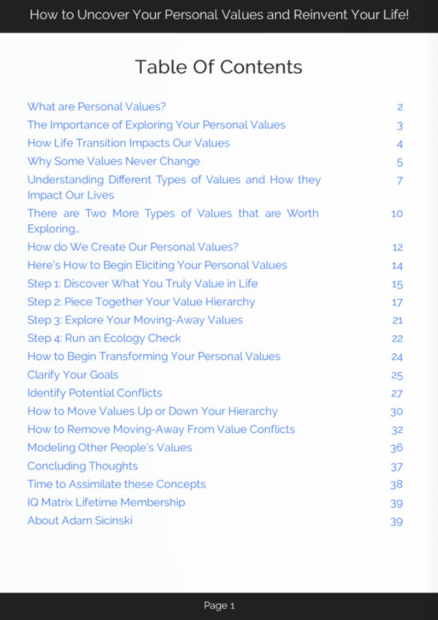 Personal Values eBook