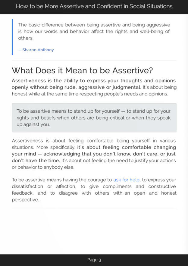 Developing Assertiveness eBook