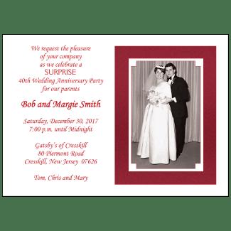 40th Annniversary Party Invitation