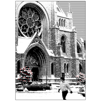 Front Cover of Christmas Holiday Card - Old First Church
