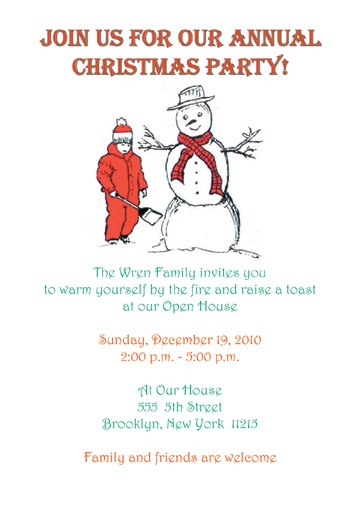 Christmas Party Invitation, CPIT-02