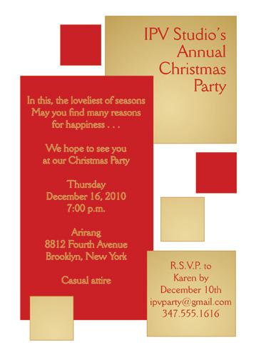 Christmas Party Invitation, CPIT-05