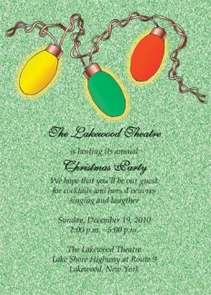 Christmas Party Invitation, CPIT-09
