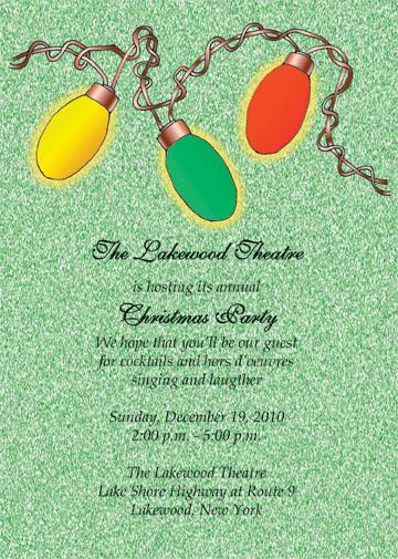 Christmas Party Invitation, CPIT-09