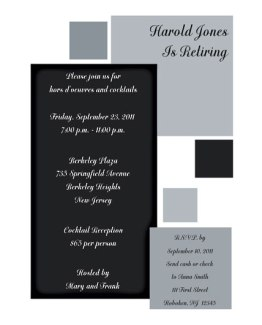 Retirement Party Invitation Template - RPIT-13