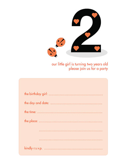 Children's Birthday Party Invitation - KBIF-08