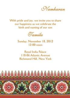 Namkaran Baby Naming Invitation