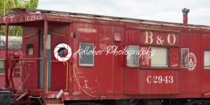 BALITMORE, MD – APRIL 15: B O Number C-2943 Caboose Baltimore Ohio Railroad on April 15, 2017 - Kelleher Photography Store