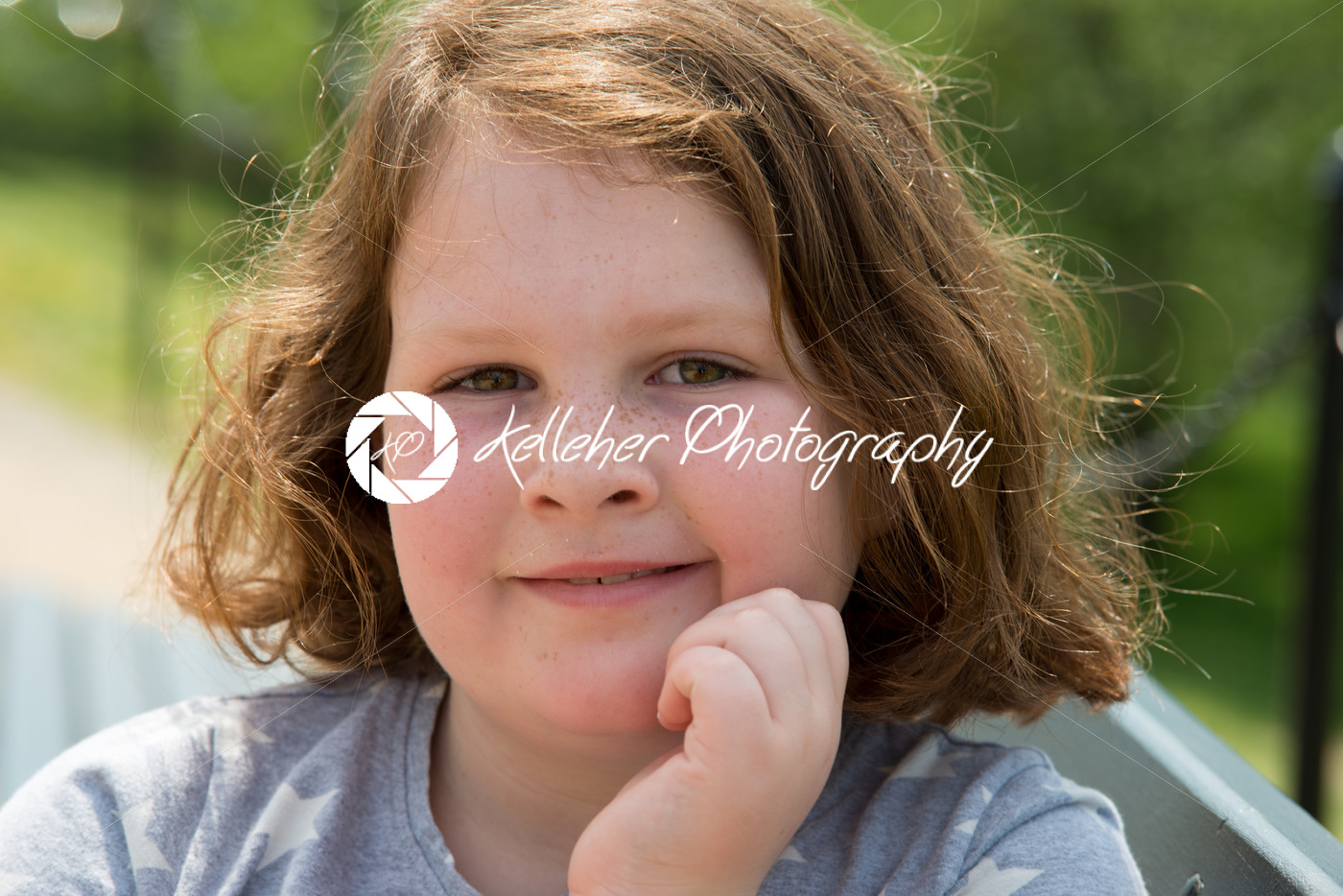 Close Portrait of Happy Young Girl Outside - Kelleher Photography Store
