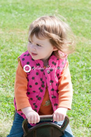 Happy little girl is swinging on see-saw - Kelleher Photography Store