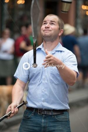 NEW ORLEANS, LA – APRIL 13: Juggler performs on street in New Orleans, LA on April 13, 2014 - Kelleher Photography Store