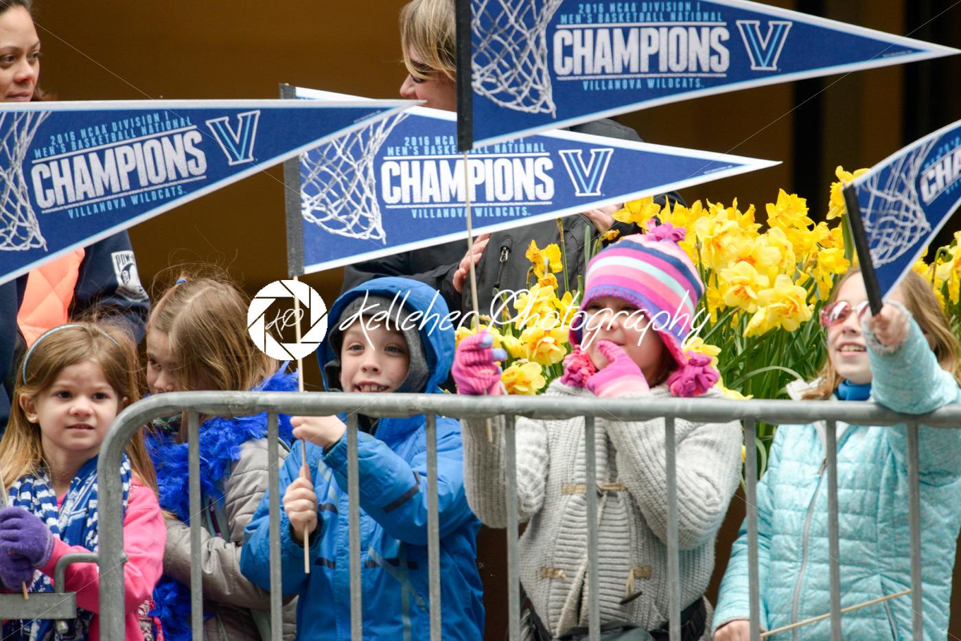 PHILADELPHIA, PA – APRIL 8: Celebration Parade for Villanova Men's Basketball Team, 2016 NCAA Champions on April 8, 2016 - Kelleher Photography Store
