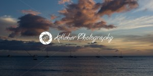 Tropical Sunset over beach in Maui Hawaii - Kelleher Photography Store