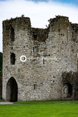COUNTY MEATH, IRELAND – AUGUST 29, 2017: Trim Castle, used in filming of parts of the movie Braveheart, in County Meath, Ireland - Kelleher Photography Store
