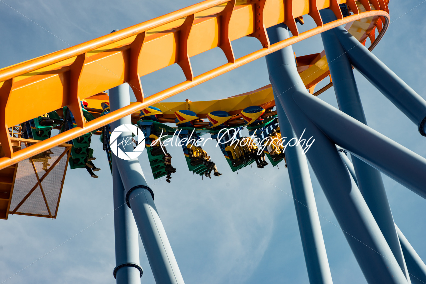 ALLENTOWN, PA – OCTOBER 22: Roller Coasters at Dorney Park in Allentown, Pennsylvania - Kelleher Photography Store