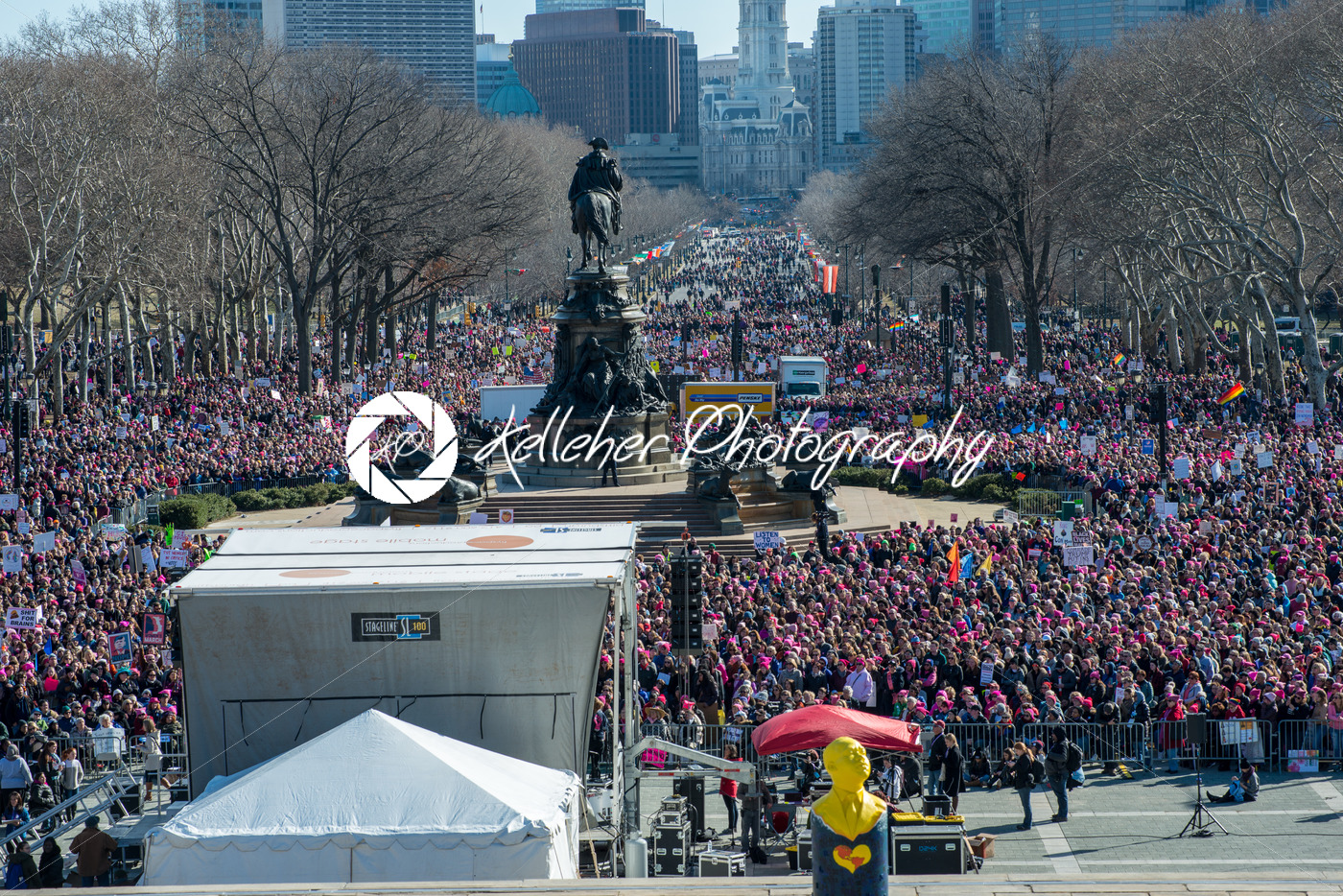 Philadelphia, Pennsylvania, USA – January 20, 2018: Thousands in Philadelphia unite in solidarity with the Women's March. - Kelleher Photography Store