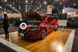 PHILADELPHIA, PA – Feb 3: Nissan Leaf EV electric vehicle at the 2018 Philadelphia Auto Show - Kelleher Photography Store