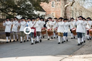 Williamsburg, Virgina – March 26, 2018: Reenactment marching band Fife and drum at Colonial WIlliamsburg. - Kelleher Photography Store