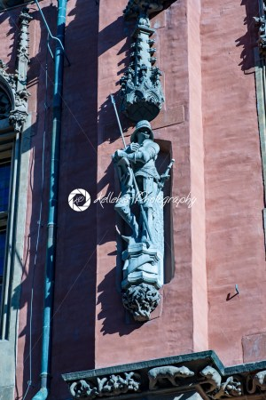 Wroclaw, Poland – March 9, 2018: Wroclaw Town Hall details in morning in historic capital of Silesia, Poland, Europe. - Kelleher Photography Store