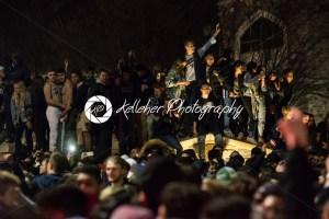 Villanova, Pennsylvania, USA. 2nd Apr, 2018. Students and fans celebrate Villanova University Men's Basketball team winning the NCAA championship - Kelleher Photography Store