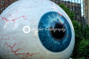 Dallas, Texas – May 7, 2018: The Eye is a statue in downtown Dallas, Texas located at the Joule Hotel. - Kelleher Photography Store