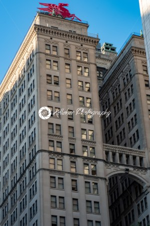 Dallas, Texas – May 7, 2018: The Pegasus seen on top of the Magnolia Building - Kelleher Photography Store