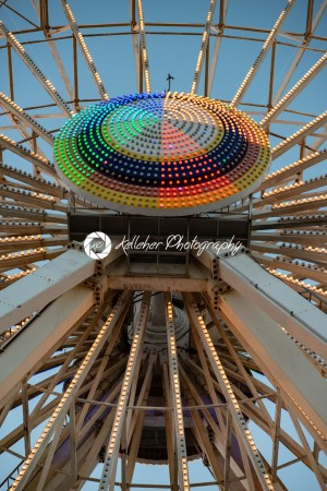 Ferris Wheel on Gillian's Wonderland Pier in Ocean City, NJ at evening time - Kelleher Photography Store