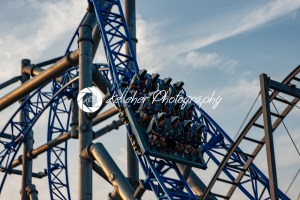 Ocean City, NJ – June 11, 2018: New GaleForce Roller Coaster on Playland Castaway Cove pier in Ocean City - Kelleher Photography Store