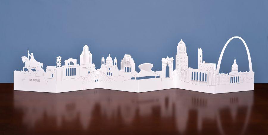Celebrate St Louis Die Cut Skyline Card Cards