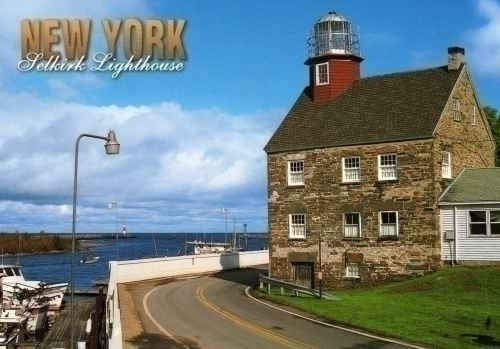 Selkirk Lighthouse Pulaski New York Postcard