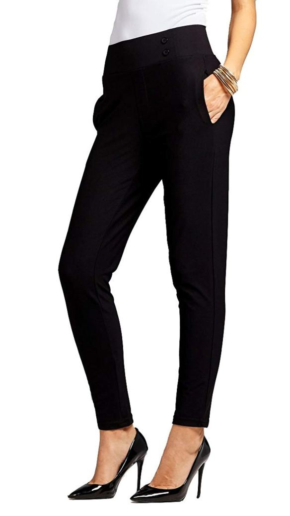 00bbc9aa57c Conceited Premium Women s Stretch Dress Pants - Slim or Bootcut - All Day  Comfort In Solids