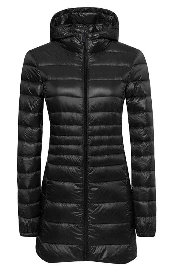 60f01380f38 ilishop Women s Winter Outwear Light Coat Hooded Down Jacket