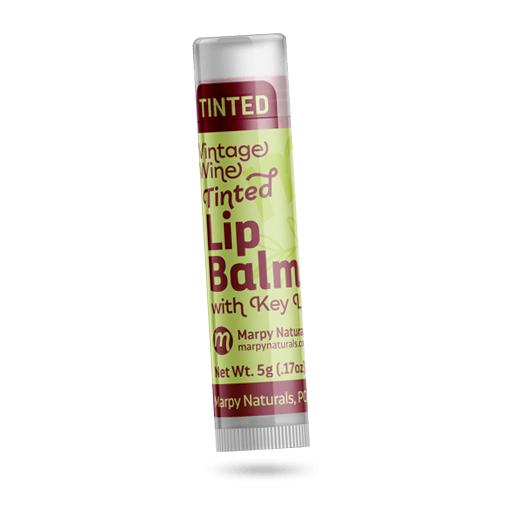image of Vintage Wine tinted lip balm with key lime