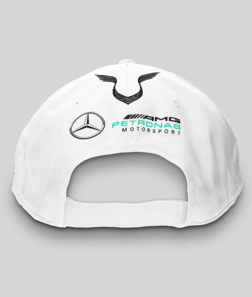 Hamilton Driver Visiera Piatta Bianco Retro