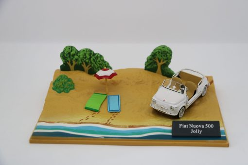 Hachette Fiat Nuova 500 Jolly DIORAMA scaled
