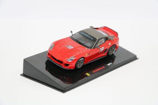 Hotwheels Elite 143 Ferrari 599XX Rosso corsa fronte scaled