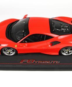 BBR 118 Ferrari F8 Tribute Geneve 2019 Rosso Scuderia laterale