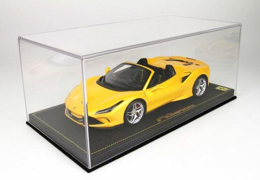 BBR 118 Ferrari F8 Tribute Spider Giallo Tristrato plexiglass case