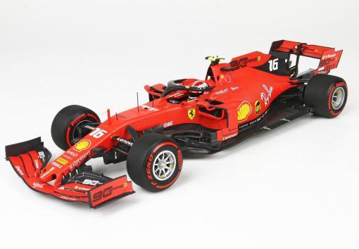 BBR 118 Ferrari SF90 GP Belgium Pole Position Leclerc fronte 1