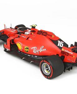BBR 118 Ferrari SF90 GP Belgium Pole Position Leclerc retro