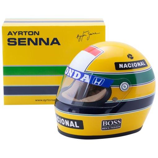 Mini Helmet Ayrton Senna Formula Uno 1988 McLaren scala 12