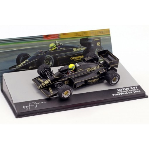 Modellino Atlas 143 Ayrton Senna Lotus 97T 12 Winner Portugal GP F1 1985