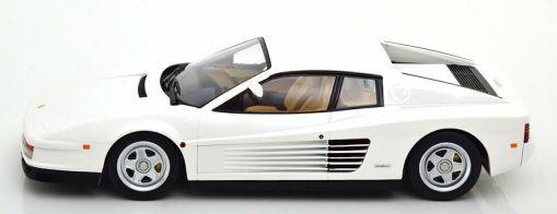 Modellino Ferrari 1 18 Testarossa Monospecchio KK bianco laterale