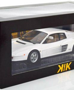 Modellino Ferrari 1 18 Testarossa Monospecchio KK bianco scatola