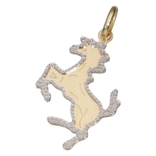 Ciondolo cavallino oro giallo martellato 2