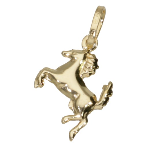 Ciondolo cavallino oro giallo 2