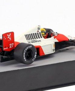 Modellino F1 Atlas 143 Ayrton Senna McLaren MP45B 27 World Champion Great Britain GP Formula 1 1990 5